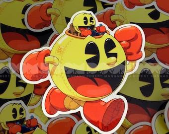 """Pac-Mech 4""""x4"""" Sticker FREE Shipping"""