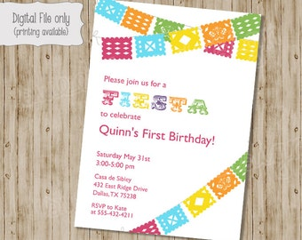 Fiesta Birthday Invitation, Fiesta Baby Shower Invitation, Fiesta Shower Invitation, Birthday Invitation, Fiesta, Fiesta Birthday Party