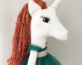 Red haired unicorn princess