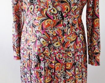 1970s Vintage dress by Philip Dale LARGE