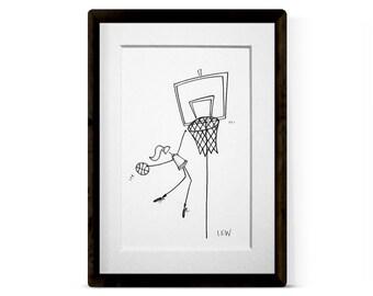BASKETBALL GIRL 1 Original Illustration