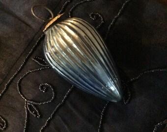 Vintage Glass Ornament Blue Glass Ornament