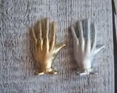 Cast Metal Hand Wall Hook,  Gold hand cast iron wall hook, cast iron door pull,  towel rack keys apron, jewelry wall hook