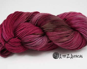 Hand Dyed Royal Baby Alpaca Yarn Bulky Weight Delectable Desert