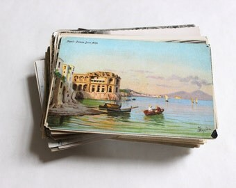 SALE - 100 Vintage International Postcards - DAMAGED