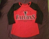 Atlanta Falcons Game Day Raglan Shirt Size Medium Upcycled