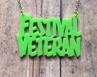 Festival veteran necklace