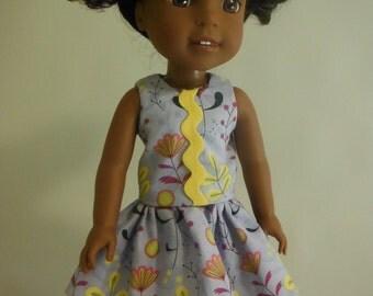 Wellie Wishers Clothes; Wellie Wisher Dress; Dress fits American Girl Wellie Wisher