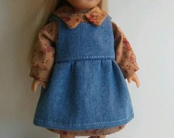 Prairie Dress fits Mini American Girl Doll; Boots for Mini American Girl