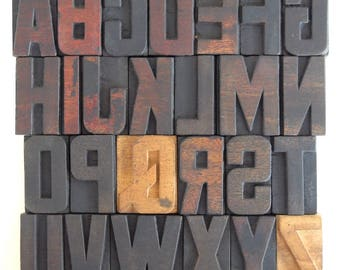 A to Z - Vintage Letterpress Wood Type Collection - VG05