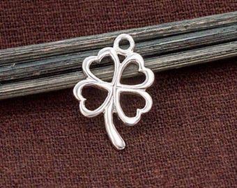 1 of 925 Sterling Silver Filigree Leaf Pendant 15x21mm. Polish Finish :th2586