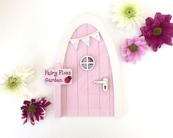 Personalised Outdoor Fairy Door - Sweetpea Pink Fairy Door, Garden Fairy Door, Fairy Garden Accessories