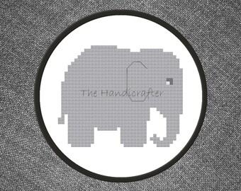 Elephant PDF Cross Stitch Pattern
