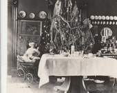 Vintage 1912 Christmas tree photo