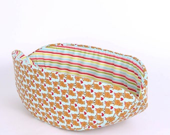 Christmas Reindeer Cat Bed - The Cat Canoe cat bed a Gift for Cats - Made in Washington