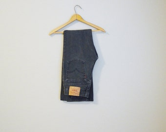 Vintage 80s 90s Levi's 517 Black Faded Gray Boot Cut Slim Fit Jean // womens 29x31 -- USA made