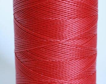 whole spool, 500m, macrame cord, waxed polyester cord, RED color, 0.8 mm. flat braid, jewelry making, friendship bracelet, waxed nylon,