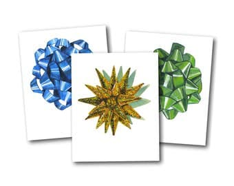 Gift Bows Collection greeting cards - present cards