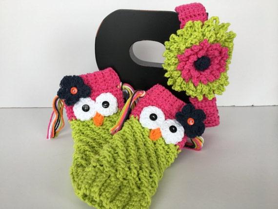 Crochet Owl Leg Warmers/Leggings-Infant Photo Prop-Kids Owl Leggings-Girls Fashion Leggings-Kids Owl Leg Warmers-Newborn to 6 Years