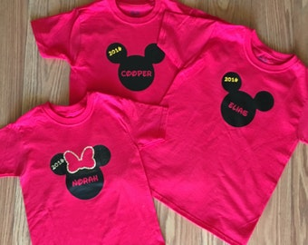Customized Disney Shirt (for the whole family!)