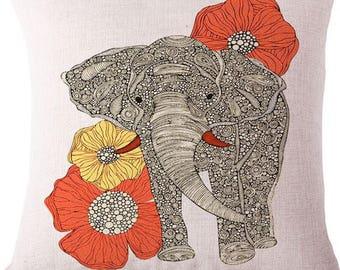 Elephant Pillow Cover