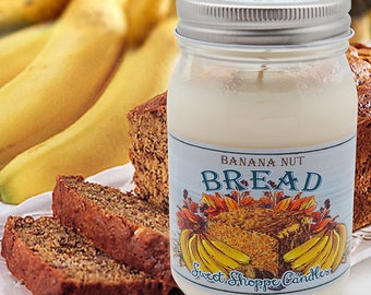 16 ounce Banana Bread Can and Loaf Candle