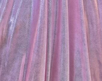 4-Way Stretch Mystique Metallic Spandex Fabric - Light Pink