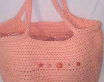Crocheted Top Handle Bags