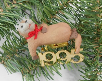 vintage Hallmark Christmas ornament 1995 Fabulous Decade 1995 otter sixth in Fabulous Decade series Hallmark collector series ornament