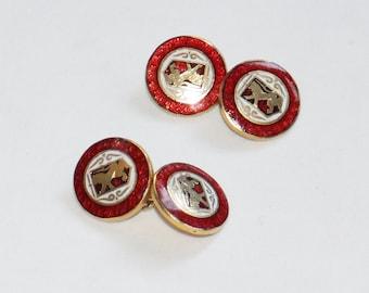 Vintage Lion  Shield  Cufflinks