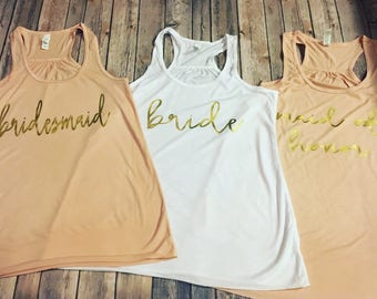 Bridal Party Tanks - Personalized front - perfect for bachelorette parties and bridal parties