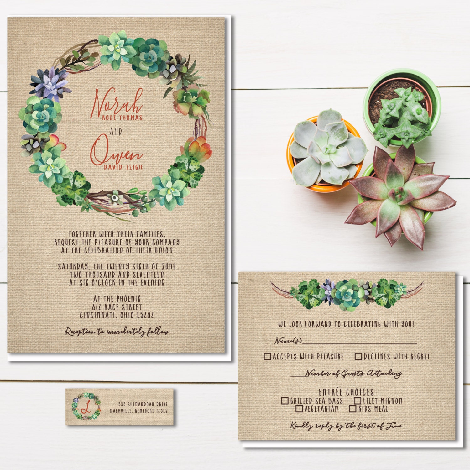 Succulent Wedding Invitations – gangcraft.net