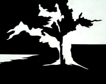 Black and White Tree- Giclee Print