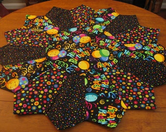Happy Birthday Quilted Table Topper (large)