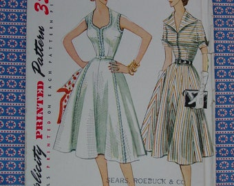 Vintage Pattern c.1952 Simplicity No.3925 Dress Size 14  Uncut