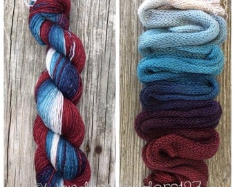 Hand Dyed Yarn, Gradient Yarn, Fingering Weight Yarn, Plate full of Cookies, Indie Dyed Yarn