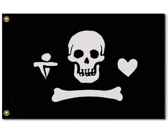 Gentleman Pirate Jolly Roger Flag