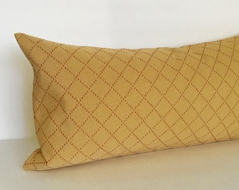 Lumbar Pillow Cover Gold Pillow Cover Diamond Pattern Oblong Decorative Pillow Accent Throw Pillow Cover 12x24 12x21 12x18 12x16 10x20