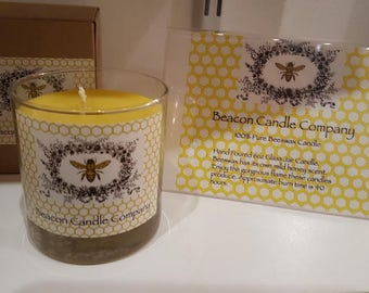 6oz Glass Jar Candle - 100% Beeswax