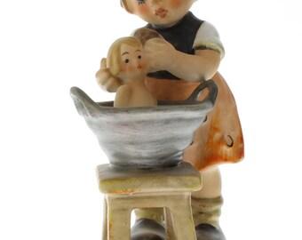 Goebel Hummel Little Girl with Doll Bath 319 Porcelain Figurine