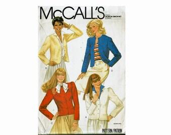 Princess Seaming Jacket Size 14 Bust 36 1980s Uncut Sewing Pattern McCalls 7871