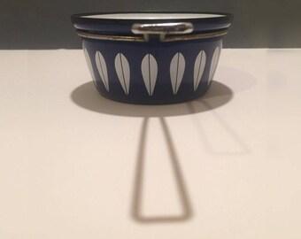 Cathrineholm Vintage Sauce Pan Pot Mid Century Royal Dark Blue 1960s