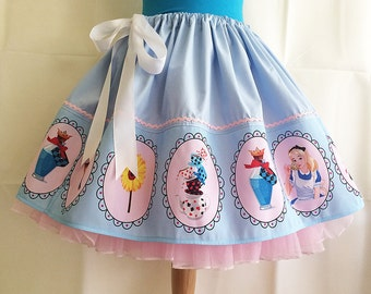 Adult Alice In Wonderland Costume, UK, Skirt, Full Skirt, Cosplay,  By Rooby Lane, suitable for all ages