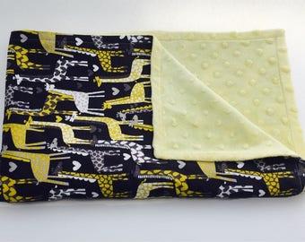 Giraffe Baby Blanket, Stroller Blanket