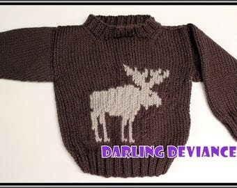 Get Outside! Moose Sweater 12-18 month size