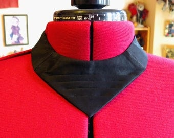 black bulldogger tie adjustable western tie. can be made in any colour
