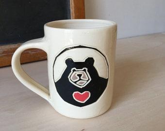 Black Bear Sweetheart Mug
