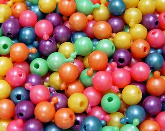 Multi Pearl Colors Pop Snap Beads 12mm, 1gross/144pc