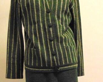 Vintage 1950s Jantzen Skirt and Cardigan Set. Khara Fleece. Small to Medium Small