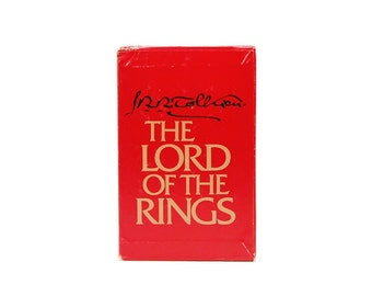 1978 LOTR JRR Tolkien Lord Of The Rings Boxed Trilogy Middle Earth Frodo Gandalf Aragorn Hobbits Gollum 1970s Vintage LOTR